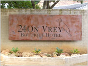 24 on Vrey Boutique Hotel Accommodation with rustic brick interior and exterior